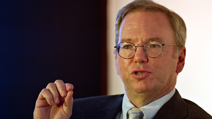 Google Executive Chairman Eric Schmidt (AFP Photo / Manan Vatsyayana)