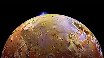 A NASA spacecraft sees a volcanic explosion on Jupiter's third-largest moon (Cover image courtesy of NASA/JPL/University of Arizona) (Video courtesy of NASA/Johns Hopkins University Applied Physics)