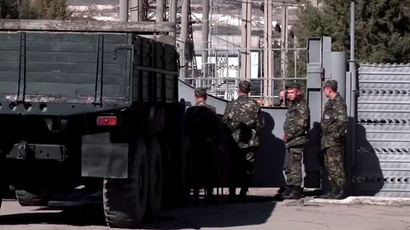 The naval base near the city of Bakhchisaray, central Crimea (Screenshot from RT Video)