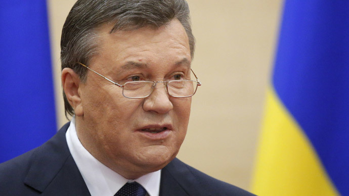 Ousted Ukrainian President Viktor Yanukovich makes a statement during a news conference in the Russian southern city of Rostov-on-Don, March 11, 2014. (Reuters / Maxim Shemetov)