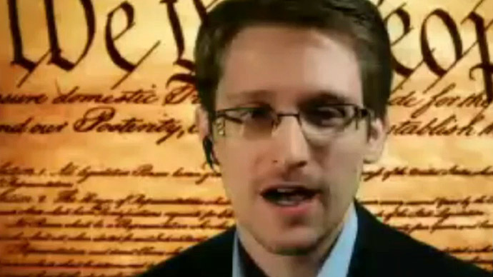 Edward Snowden (Video still from The Texas Tribune)