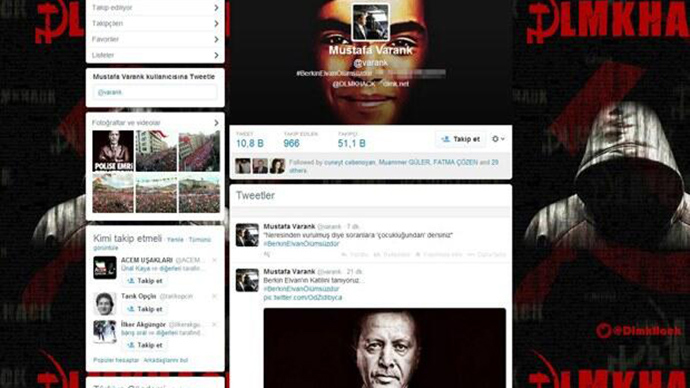 'We know who Elvan's killer is': Turkish hackers take over PM aide's Twitter account