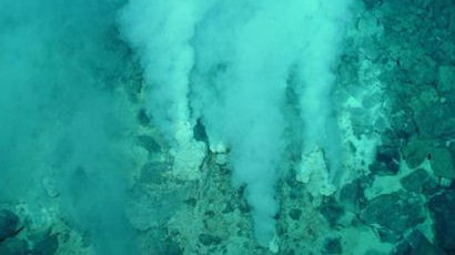 There is support for the theory that life emerged on Earth in places like hydrothermal vents on the ocean floor, forming from inanimate matter such as the chemical compounds found in gases and minerals. (Credit: NOAA)