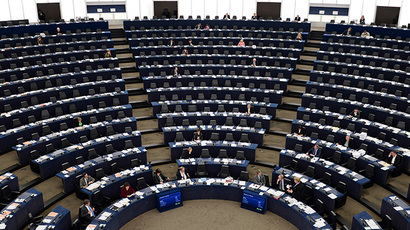 Members of the European Parliament attend a debate on the situation in Ukraine in Strasbourg (AFP Photo / Frederick Florin)