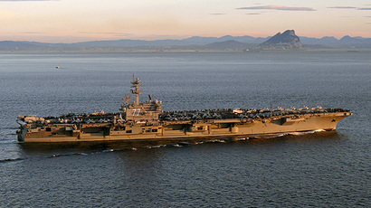 The aircraft carrier USS George H. W. Bush (AFP Photo / US Navy / Juan David Guerra)