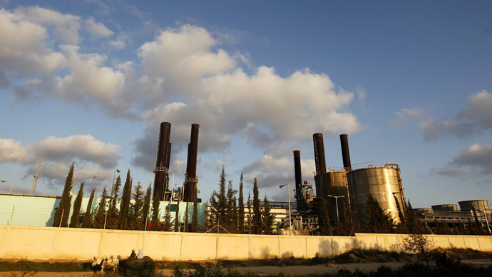 Picture shows a view of Gaza's sole power plant in Nusairat (AFP Photo/Mohammed Abed)