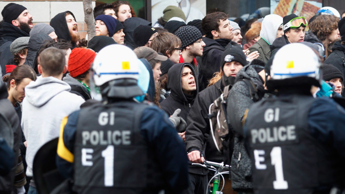 ​300 arrested at Montreal protest against police brutality