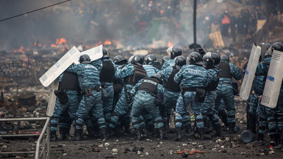 Berkut riot police in Kiev during Maidan protests (RIA Novosti / Andrey Stenin)