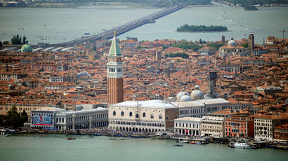 An aerial view of the city of Venice (AFP Photo / Olivier Morin)