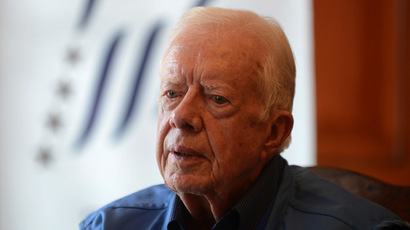 Former president of the United States Jimmy Carter (AFP Photo/Prakash Mathema)