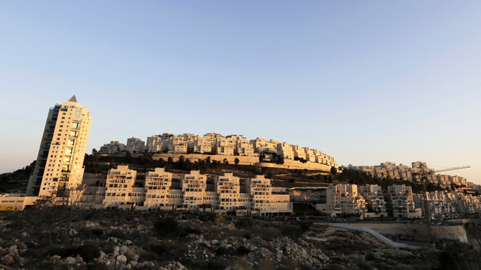 A general view shows a Jewish settlement near Jerusalem known to Israelis as Har Homa and to Palestinians as Jabal Abu Ghneim (Reuters/Ammar Awad)