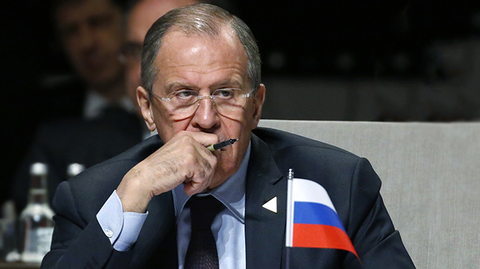Russian Foreign Minister Sergei Lavrov attends the opening session of the Nuclear Security Summit (NSS) in The Hague on March 24, 2014. (AFP Photo / Yves Herman)