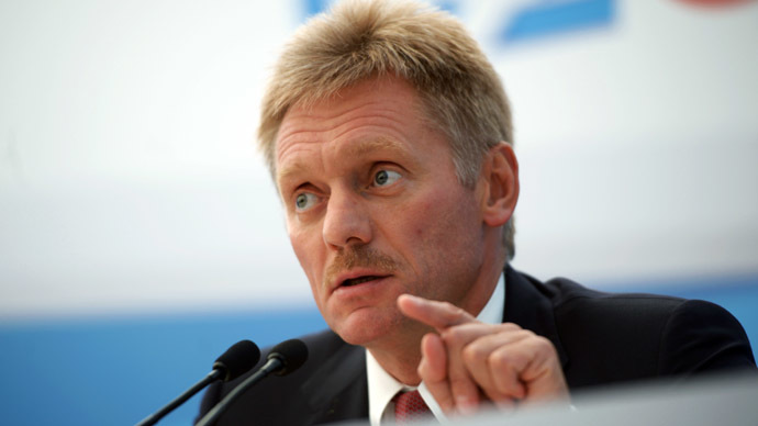 Russian presidential press secretary Dmitry Peskov (RIA Novosti/Grigoriy Sisoev)