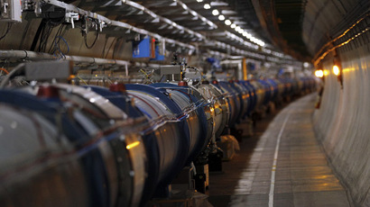 The LHC (Large Hadron Collider) tunnel (Reuters/Denis Balibouse)
