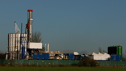 The IGas Energy exploratory gas drilling site is seen at at Barton Moss near Manchester in northern England January 13, 2014 (Reuters / Phil Noble)