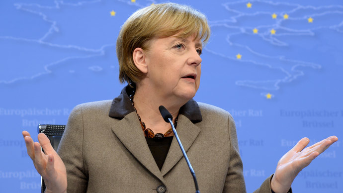 German Chancellor Angela Merkel (AFP Photo / Thierry Charlier)