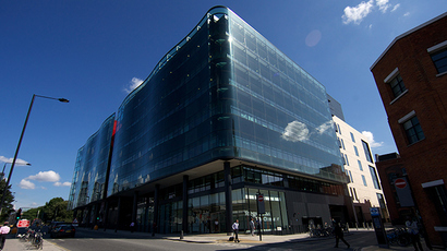 A picture shows the offices of the Guardian newspaper in central London (AFP Photo / Andrew Cowie)