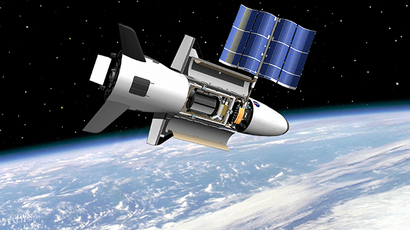 This NASA image shows an artist's rendition of the X-37B as it might look like orbiting Earth. (AFP Photo / NASA)