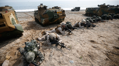 U.S. and South Korean marines participate in a U.S.-South Korea joint landing operation drill in Pohang March 31, 2014 (Reuters / Kim Hong-Ji)