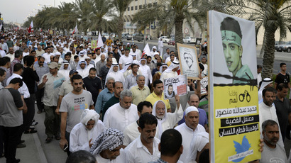 Thousands gather for pro-democracy march in Bahrain ahead of F1 race