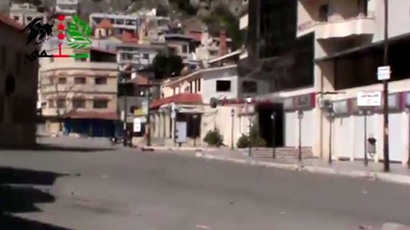 AP's video still shows deserted streets of Syrian Kessab on March 27 2014