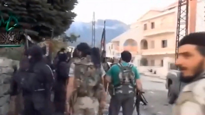 The Christian majority town of Kessab, Syria, March 27, 2014. (Still from AP video)
