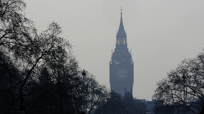 The Big Ben clock tower is seen in London April 2, 2014. (Reuters / Luke MacGregor)