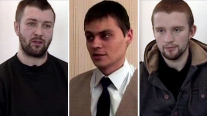 Detained Ukrainians (screenshots from FSB footage)