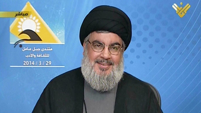An image grab from Hezbollah's al-Manar TV shows Hassan Nasrallah, the head of Lebanon's militant Shiite Muslim movement Hezbollah (AFP Photo)
