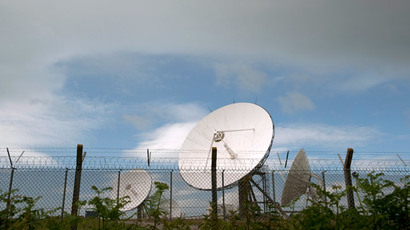 Satellite dishes are seen at GCHQ's outpost at Bude, close to where trans-Atlantic fibre-optic cables come ashore in Cornwall, southwest England June 23, 2013.(Reuters / Kieran Doherty )