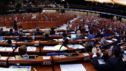 General view of the plenary room of the Parliamentary Assembly of the Council of Europe (Reuters / Vincent Kessler)