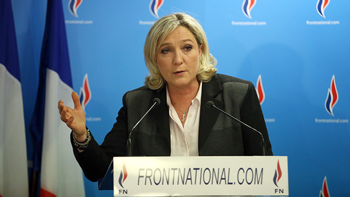 French far-right party Front National (FN) presidente Marine Le Pen (AFP Photo / Kenzo Tribouillard)