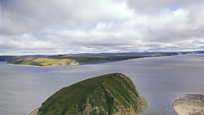 Stolb Island in the confluence of Lena River to the Laptev Sea. (RIA Novosti / Redkin)