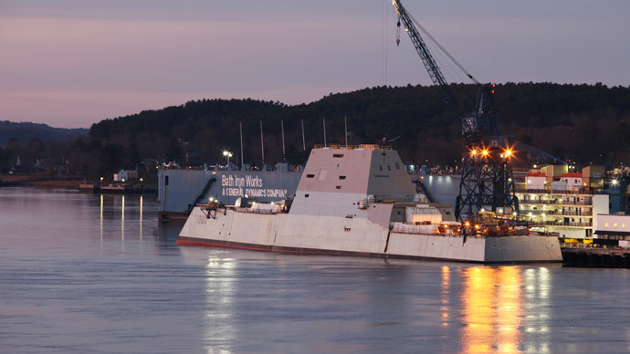 U.S. Navy's Zumwalt Class of multi-mission guided missile destroyer (Reuters / Joel Page)