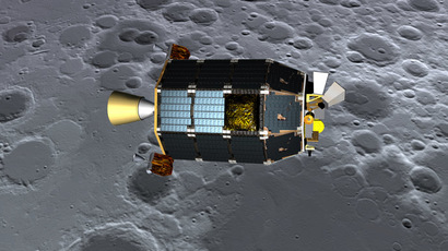 Concept art showing LADEE over the lunar surface (NASA)