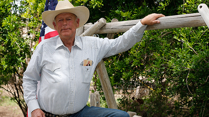 Rancher Cliven Bundy poses for a photo outside his ranch house on April 11, 2014 west of Mesquite, Nevada (Reuters / George Frey)