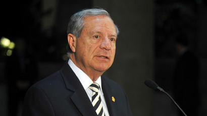 Costa Rican foreign minister Enrique Castillo Barrantes.(AFP Photo / Hector Retamal)