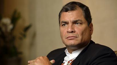 Ecuador President Rafael Correa (AFP Photo/Eric Feferberg)