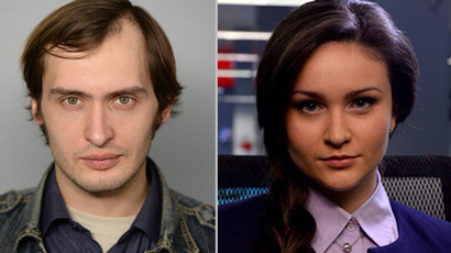Journalists Julia Shustraya and Mikhail Pudovkin