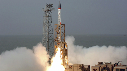 FILE photo. An advanced air defence interceptor missile is launched from Wheeler Island off the Dhamra coast in the eastern Indian state of Orissa. (Reuters / Indian Military)