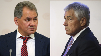 Russia's Defence Minister Sergey Shoigu (L) and U.S. Secretary of Defense Chuck Hagel (R) (RIA Novosti / Reuters)