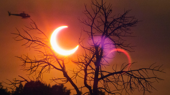 Crescent sun eclipse gives Australians rare visual treat