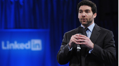 LinkedIn CEO Jeff Weiner (AFP Photo / Mandel Ngan )