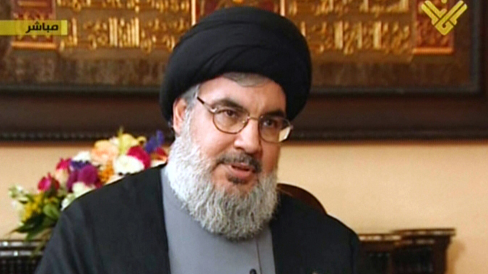 An image grab taken from Hezbollah's al-Manar TV on December 3, 2013 shows Hassan Nasrallah, chief of Lebanon's Shiite Hezbollah movement (AFP Photo)