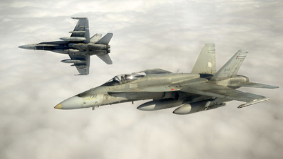 Canadian Forces CF-18 fighter jets (Reuters/Cpl Pierre Habib/Canadian Armed Forces)