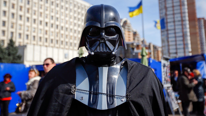 """Darth Vader"", first deputy head of the Internet Party of Ukraine (Reuters / Shamil Zhumatov)"