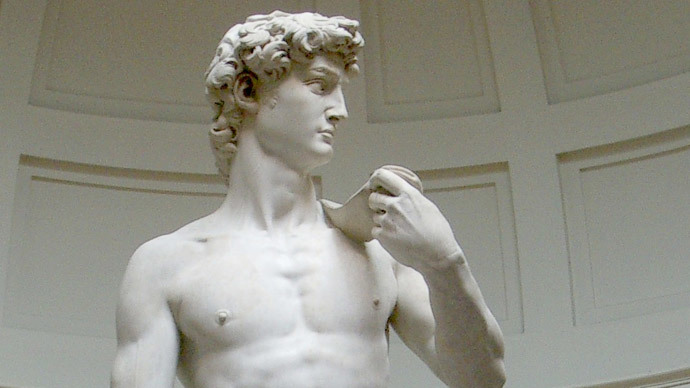 Michelangelo's David (original statue), (image by Rico Heil from wikipedia.org)