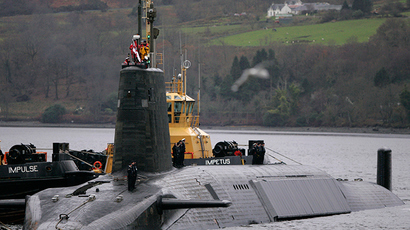 HMS Vengeance, a British Royal Navy Vanguard class Trident Ballistic Missile Submarine (Reuters / David Moir)