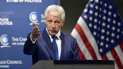 U.S. Secretary of Defense Chuck Hagel (AFP Photo / Brian Kersey)