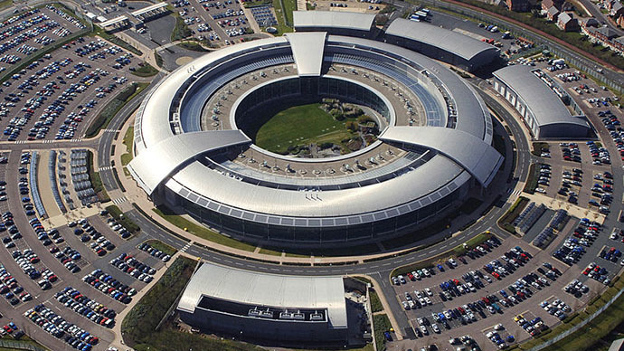 An aerial image of the Government Communications Headquarters (GCHQ) in Cheltenham, Gloucestershire. (Image from www.defenceimagery.mod.uk)